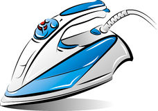Drawing of the blue iron Royalty Free Stock Photo