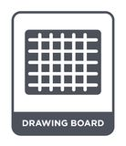 drawing board icon in trendy design style. drawing board icon isolated on white background. drawing board vector icon simple and vector illustration