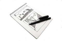 Drawing book Royalty Free Stock Photos