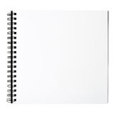Drawing book. Isolated on white background, file includes a excellent clipping path royalty free stock images
