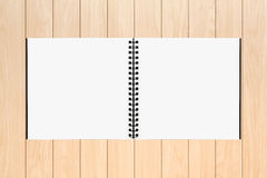 Drawing book. On Wood background royalty free stock photography