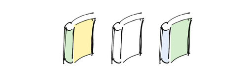 Drawing of books Royalty Free Stock Image