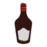 Drawing bottle cream whiskey liqueur icon. Drink vector illustration eps 10 Royalty Free Stock Photography