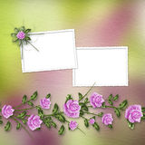 Drawing bouquets of roses on pastel background Royalty Free Stock Photography