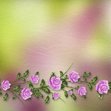 Drawing  bouquets of roses on pastel background Stock Photo