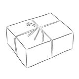 Drawing of box Royalty Free Stock Photography