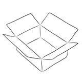 Drawing of box Stock Photo