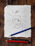 Drawing boy Royalty Free Stock Image