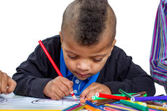 Drawing  boy. Stock Image