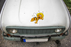Drawing Brownie on the car Stock Image