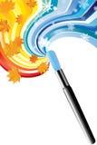 Drawing a brush. Stock Photos