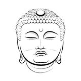 Drawing Buddha Head Stock Photo
