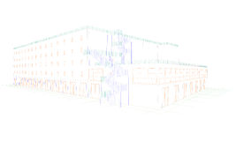 A drawing of a building royalty free stock photo