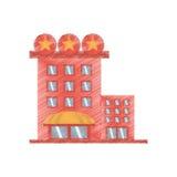 Drawing building hotel lodging stars. Illustration eps 10 Stock Image