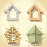 Drawing of Building a House Royalty Free Stock Image