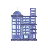 Drawing building residential town. Illustration eps 10 Stock Photography
