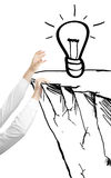 Drawing bulb Royalty Free Stock Photography