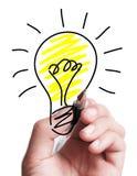 Drawing A Bulb Stock Photos