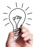 Drawing A Bulb Stock Images