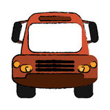 Drawing bus public transport city front view Stock Photography