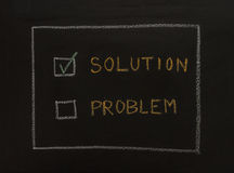 Drawing business concept idea on black board background. Royalty Free Stock Photo