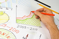 Drawing business diagram Stock Images