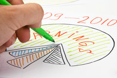 Drawing business diagram Royalty Free Stock Images