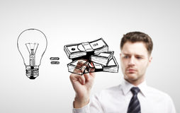 Drawing business formula Stock Photography