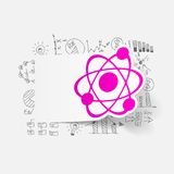 Drawing business formulas: atom Stock Images