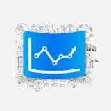 Drawing business formulas. chart Royalty Free Stock Image