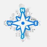 Drawing business formulas. compass Stock Photos