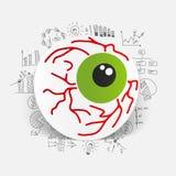 Drawing business formulas. eye Royalty Free Stock Image