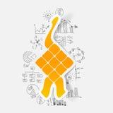 Drawing business formulas: ketupat Stock Photography