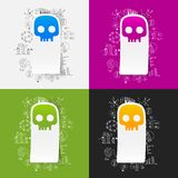 Drawing business formulas. skull Stock Photography