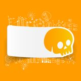 Drawing business formulas. skull Stock Images