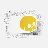 Drawing business formulas. skull Royalty Free Stock Images