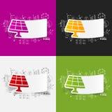 Drawing business formulas. solar battery Stock Photos
