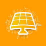 Drawing business formulas. solar battery Royalty Free Stock Photo