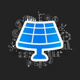 Drawing business formulas. solar battery Royalty Free Stock Photos