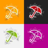 Drawing business formulas. umbrella Royalty Free Stock Images
