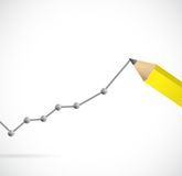 Drawing a business graph. illustration design Stock Images