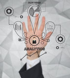 Drawing business icons Royalty Free Stock Images