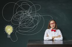 Drawing business idea concept stock photography