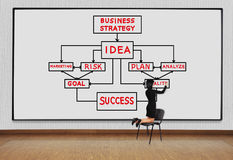 Drawing business strategy Stock Photo