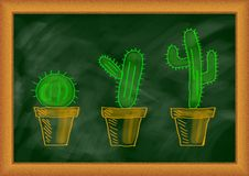 Drawing of cactuses Royalty Free Stock Image