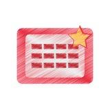 Drawing calendar april fools day Stock Photos