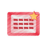 Drawing calendar april fools day Stock Photo