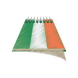 Drawing calendar date st patricks day icon. Illustration eps 10 Royalty Free Stock Images