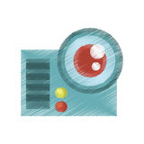 Drawing camera film movie device icon Stock Photography