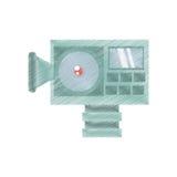 Drawing camera film movie equipment. Illustration eps 10 Royalty Free Stock Photo